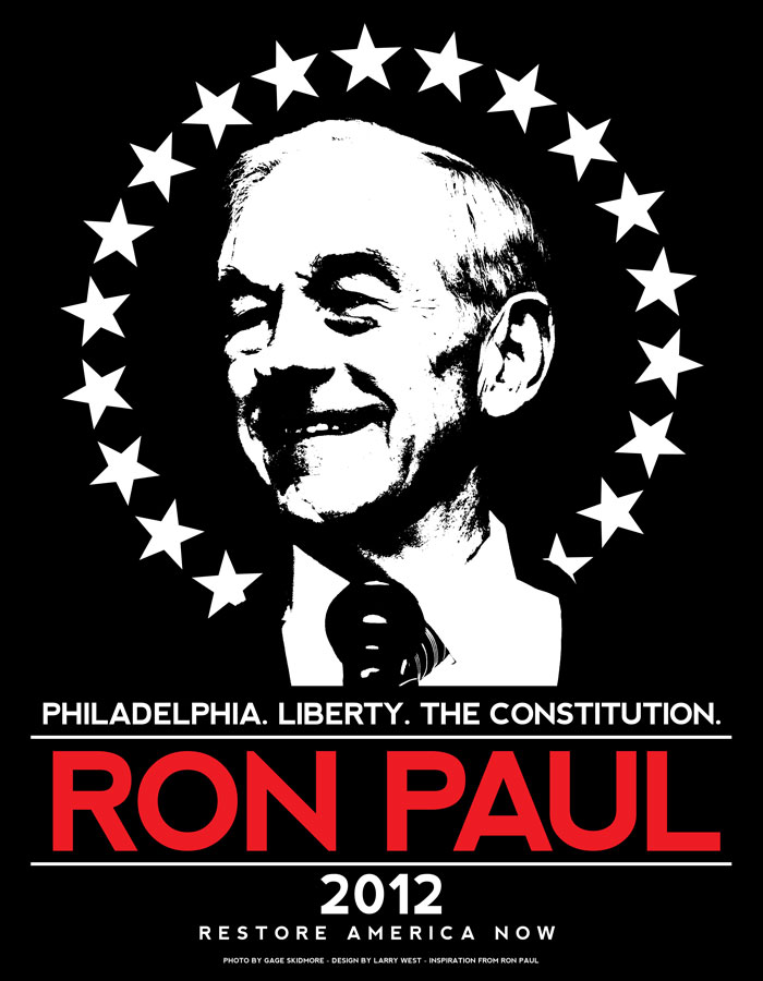 Ron Paul 2012 - Philadelphia Fundraiser Shirt Design